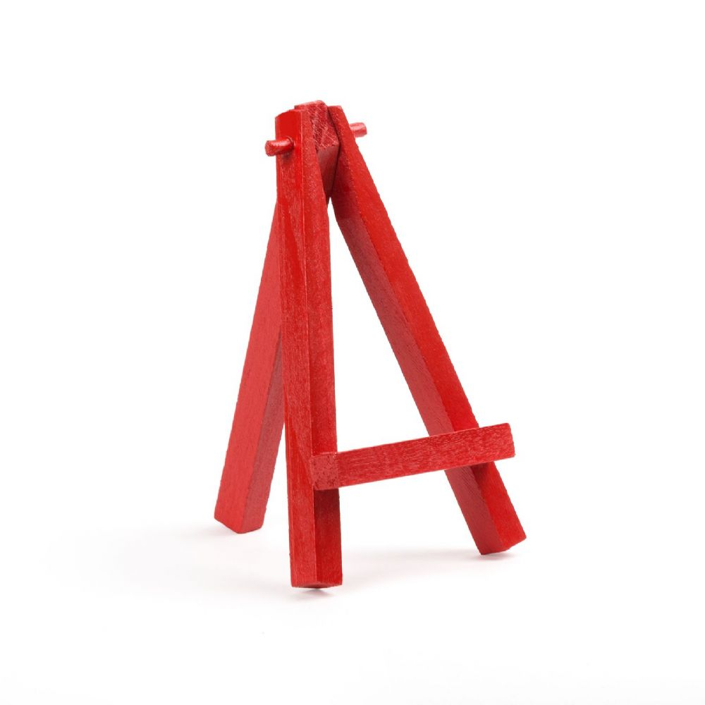 "Red Colour Mini Easel 5"" - Beech Wood"